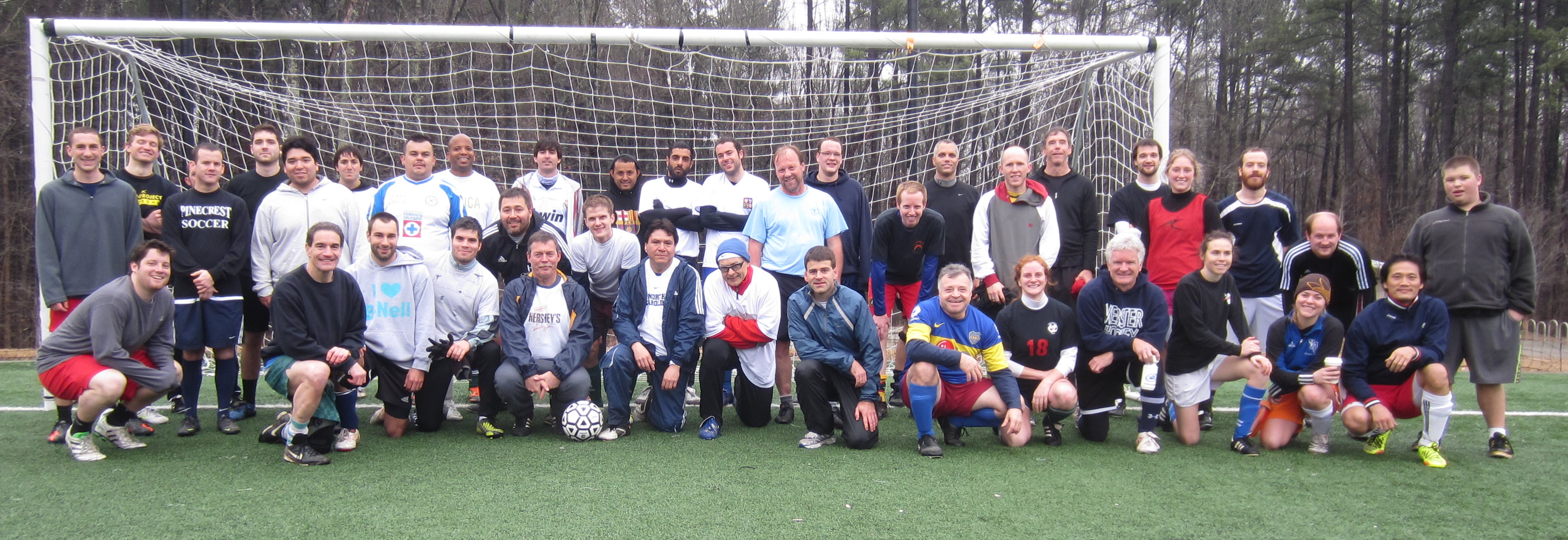 Players in the benefit tournament